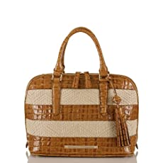 Vivian Dome Satchel<br>Raffia Vineyard Whiskey