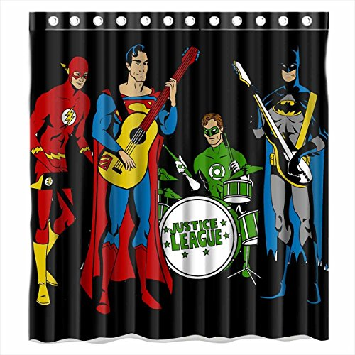 Justice League Batman Superman and Flashr Fabric Shower Curtain