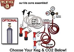2 Faucet Basic Homebrew Kegerator Kit, Pin Lock, Chudnow Regulator by Kegconnection