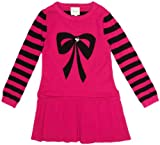 YUMI GIRLS Intarsia Knitted Bow Girl's Jumper Dress