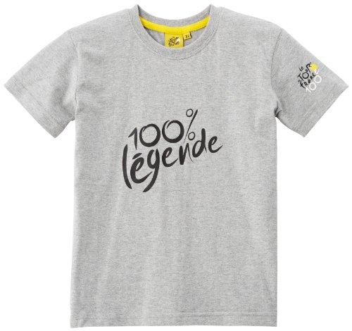 Tour de France - T-shirt da bambino Parcours 2013, grigio (grigio), FR : 8 ans (Taille Fabricant : 7/8 ans)