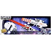 SPACE WARS SERIES: PLANET OF TOYS SPACE WEAPON SET GUN 44CMS SWORD 52CMS MASK 23CMS ( LED LIGHTS AND SOUND)