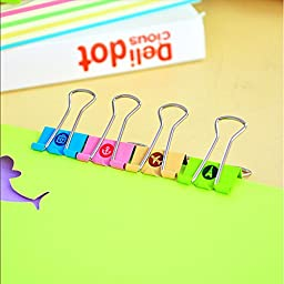 16 Pcs/lot Cartoon Travel Series Binder Clips File Clip Organizer Papelaria Stationery Office & School