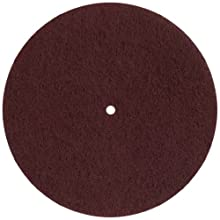 "Glit 11509 TN Polyester Blend Maroon Wood Surfacing Pad, Synthetic Blend Resin, Aluminum Oxide Grit, 7"" Diameter, 175 to 350 rpm (Case of 20)"