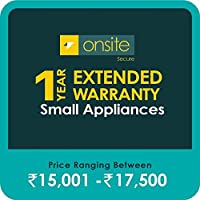 Onsite Secure 1 Year Extended Warranty for Small Appliances (Rs 15001 - 17500)