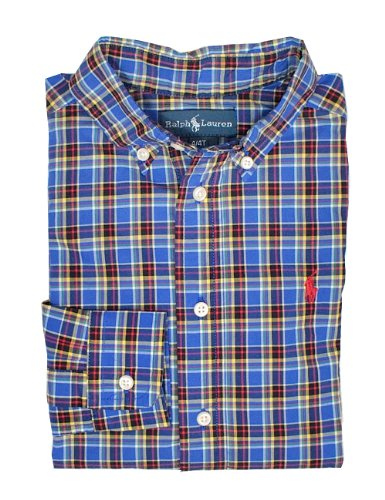 Ralph Lauren Toddler Boy'S Blake Plaid Shirt (7, Blue Multi) front-1047087