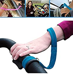 Baby Stroller Pram Safety Belt Wrist Strap Infant Kid Carriage Harness Anti Lost, Blue