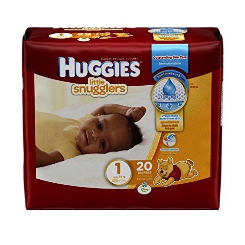 Huggies Little Snugglers Size 1 , 20 Count - 1