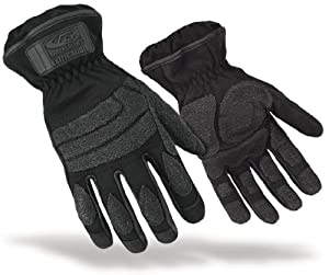 Ringers Gloves 313-08 Extrication Short Cuff Glove, Black, Small