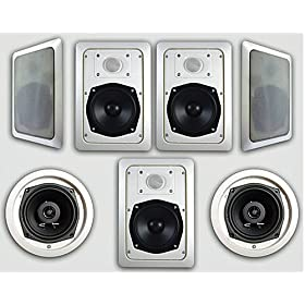 Acoustic Audio HT-57 1400 Watt 2-Way In-Wall/Ceiling Speaker System