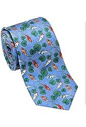 Koi Fish Design - Silk Necktie