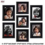 Ajanta Royal Classic set of 7 Individual Photo Frames (3-5x5 Inch & 4-5x7 Inch) WPC-02