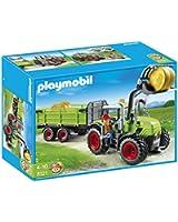 Playmobil - 5121 - Jeu de construction - Grand tracteur avec remorque