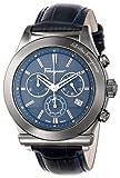 "Salvatore Ferragamo Men's F78LCQ6904 SB04 ""Salvatore Ferragamo 1898"" Gray Ion-Plated Stainless Steel and Blue Leather Watch"