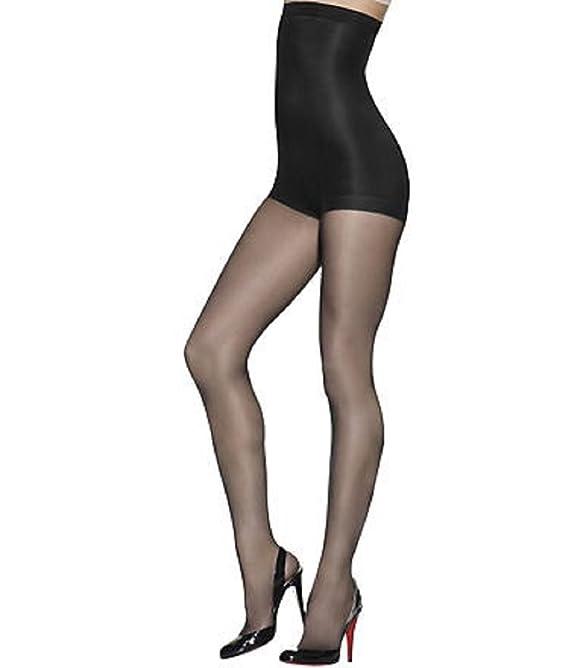 Hanes Solutions Silky Sheer High Waist Shaping Pantyhose Black