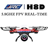 Voomall JJRC H8D 5.8G FPV RTF 6-Axis Gyro RC Quadcopter Headless Mode/One Key Return Drone with 2 Megapixels Camera FPV Monitor LCD [US in Stock]