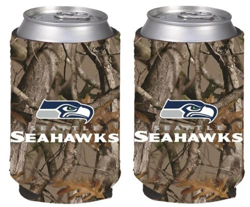 NFL Football Vista Camo Beer Can Kaddy Collapsible Koozie Holder 2-Pack - Pick Team! (Seattle Seahawks) at Amazon.com