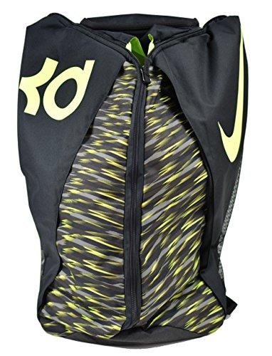Nike KD Max Air VIII Basketball Backpack Black/Tumbeled Grey/Volt