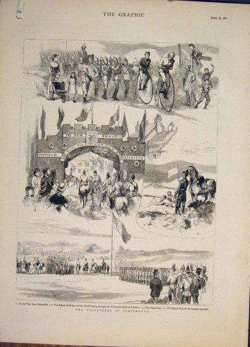 Volunteers Portsmouth Portland Hall Cosham Print 1882