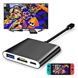 Fyoung Type-C HDMI Adapter Hub Cable for Nintendo Switch, HDMI Converter Cable for Nintendo Switch