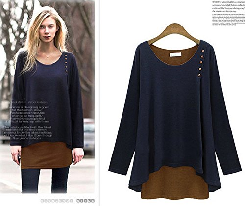 slaccia-piu-donne-xjoel-maniche-lunghe-t-shirt-top-navy-blue-xl