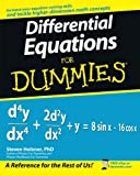 Differential Equations For Dummies (0470178140) by Holzner, Steven