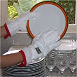 Grab & Dry Dish Drying Gloves- White