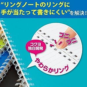 コクヨ ソフトリングノート セミB5 2冊 B罫 オレンジ ス-SV301BT-YRX2
