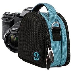 VanGoddy Mini Laurel Bag | SKY BLUE Compact Camera Pouch Cover fits Nikon Coolpix S31 / S02 / S01 / S6800 / S6500 / S5300 / S5200 / S3600 / S3500 / S31