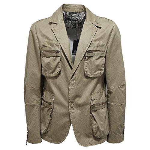 7222L giacca uomo beige verde DANIELE ALESSANDRINI giacche jackets coats men [52]