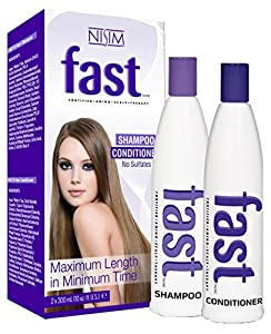 NISIM Fast Shampoo & Conditioner Twin Pack, 20.28 Fluid Ounce