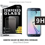 **NEW** FULL COVERAGE Galaxy S6 Edge Tempered Glass, iMacket ® Ultra Clear Tempered Glass Screen Protector for Samsung Galaxy S6 Edge with curved sides [0.3mm Thickness, 2.5D Round edge, 9H Hardness, Oleophobic]