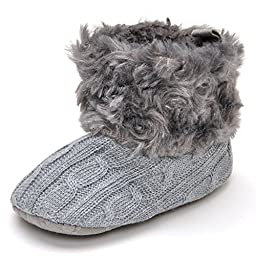 Baby Plush Boots Darkgray US 3