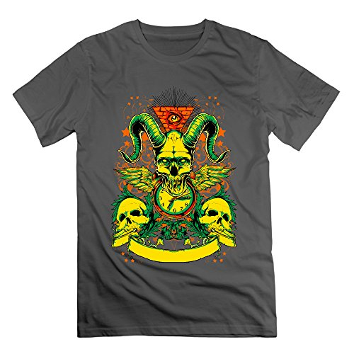 Men's Colorful Skulls Short-Sleeve T-shirt DeepHeather