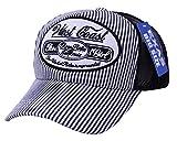 Amazon.co.jp(エクサス)EXAS (大きい帽子 最大65cm)ヒッコリービッグワッペンメッシュキャップ