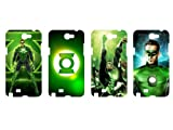 Wholesales 4pcs Green Lantern Fashion Hard back cover skin case for samsung galaxy note n7100-n7gl4001