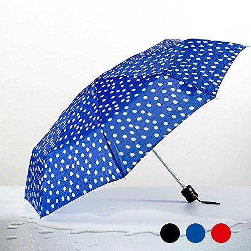 paraguas-plegable-lunares-negro