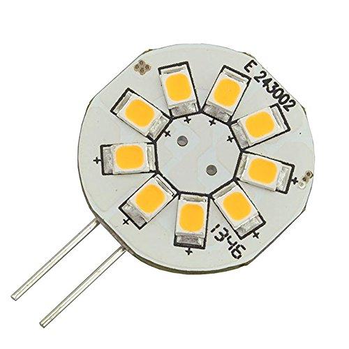 Ledwholesalers Disc Type G4 Base Side Pin Led Bulb With 9Xsmd2835 12V Ac/Dc, Pack Of 2, White, 1106Wh