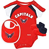 NHL Reebok Washington Capitals Newborn Creeper, Bib & Booties Set - Red (6-9 MO) at Amazon.com