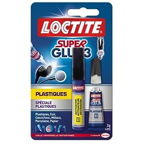 Loctite Super Glue-3 Spécial Plastiques tube 2 g + stylo 4 ml