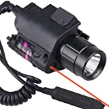 NuoYa001 CREE LED Flashlight+Red Laser/Sight fit 4 gun Glock 17 19 22 20 23 37 hunting