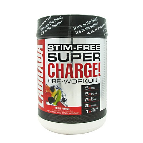 Labrada Nutrition Super Charge Stim-Free - Fruit Punch - 25 Servings (Super Charge Energy compare prices)