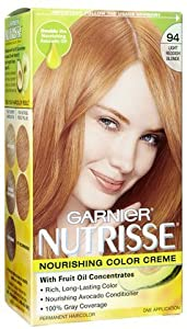garnier nutrisse hair coloring 94 light reddish blonde