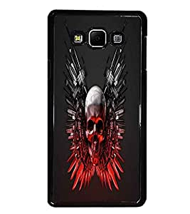 PrintDhaba Skull D-1240 Back Case Cover for SAMSUNG GALAXY A7 (Multi-Coloured)