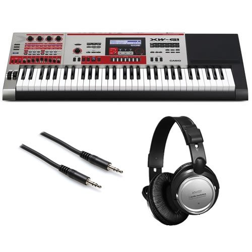 Casio XW-G1 Synthesizer BONUS PAK w/ Stereo Headphones & Aux