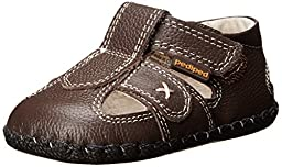 pediped Originals Martin Sandal (Infant/Toddler/Little Kid),Chocolate Brown,Small (6-12 months)