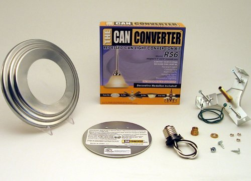 Can Converter R56-RMB-STN 5 in. & 6 in. Recessed Can Light Converter Kit with Satin Nickel Medallion (Can Light Converter Kit compare prices)