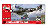 Airfix A50055 1:24 Scale Battle of Britain Memorial Flight Supermarine Spitfire MkVb WWII Aircraft Gift Set with Paints, Glue and Brushes