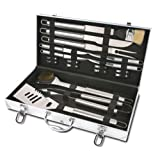 Style Asia HW5266 Chefs Basics Select 18-Piece Stainless-Steel BBQ Set with Aluminum Storage Case (Discontinued by Manufacturer) ~ Style Asia