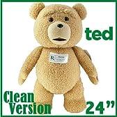 【正規品】TED テッド ぬいぐるみ 24インチ 60cm Ted 24-Inch Talking Plush Teddy Bear テッド テディベア 映画のテッドと等身大 おしゃべり しゃべる 熊 くま 実物大 ぬいぐるみ 「クリーントーキング版(通常版)」 並行輸入品
